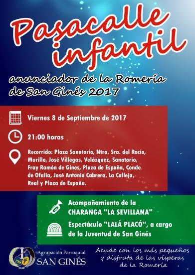 Cartel Pasacalle Infantil San Ginés 2017